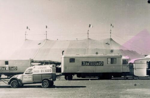 le cirque Jean Richard en 1968 ( matériel Gruss)