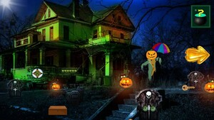 Jouer à Halloween escape from graveyard house