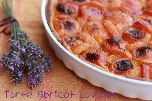 Tarte abricot lavande pour culinoversion