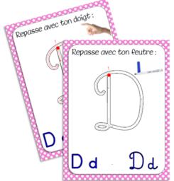 Ecriture des lettres en majuscule cursive