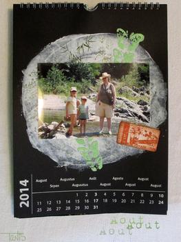 Calendrier 2014 - Juillet et août