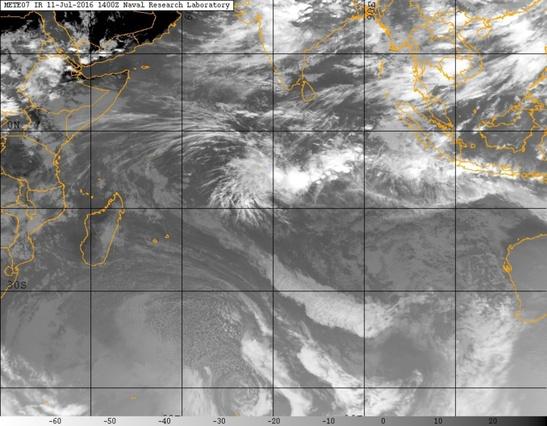 Illustration Cyclone Océan Indien