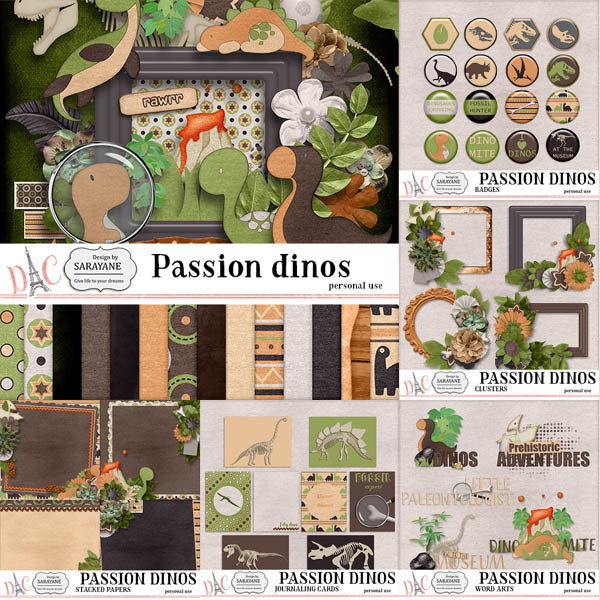 Passion Dinos {Full Pack PU} by Sarayane