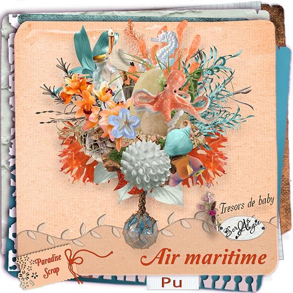 """Collab """"Air Maritime"""" de Scrap'Angie et trésors de baby"""
