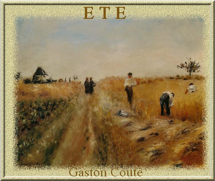 """""""Eté """" poème de Gaston Couté"""