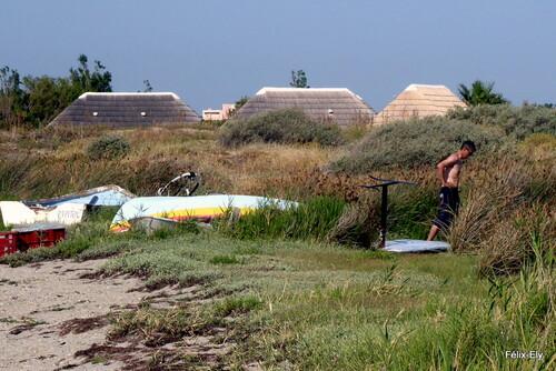 En vacances : bord de l'étang