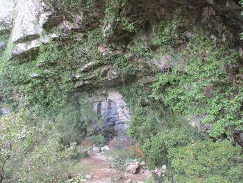 L'abri sous roche du fond du vallon