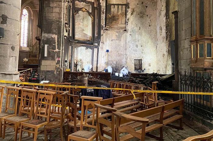 Incendie à l'église collégiale d'Avesnes-sur-Helpe : un homme placé en garde à vue
