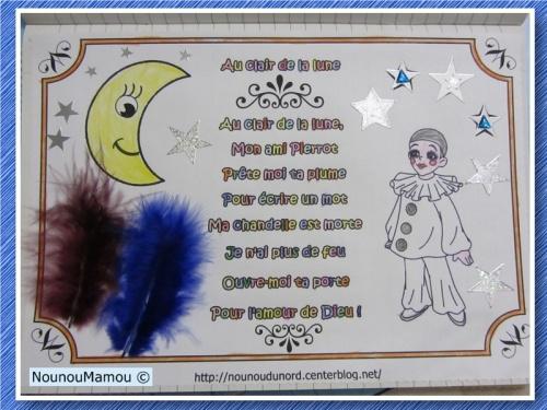 Comptine illustrée : Au clair de la lune