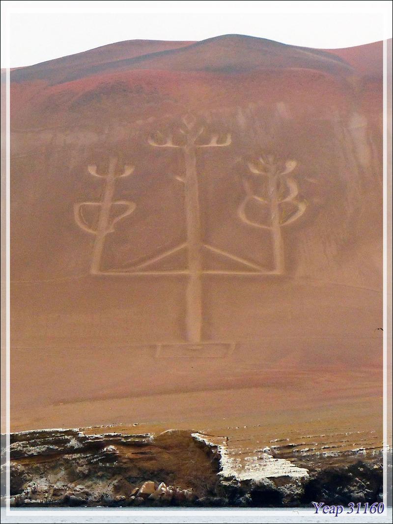 Géoglyphe Le Candélabre ou Chandelier de la péninsule de Paracas - Pérou