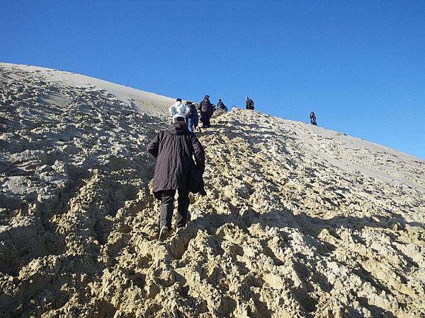 escalade de la dune du Pyla
