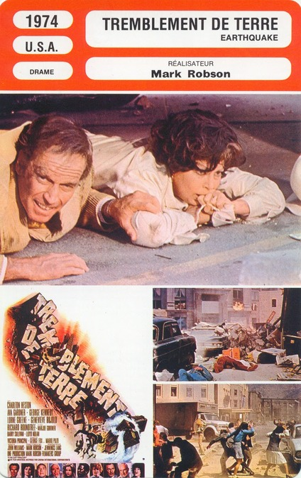TREMBLEMENT DE TERRE (EARTHQUAKE) - CHARLTON HESTON BOX OFFICE 1975