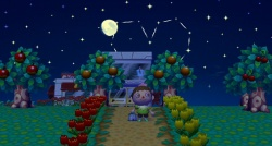 Animal crossing coucher de soleil