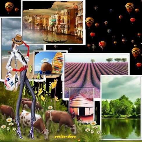 gifs vacances : vos créations avec mon cluster  et une participation au défi de babouchka