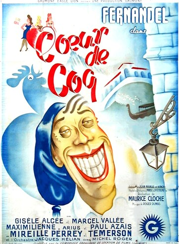 COEUR DE COQ - BOX OFFICE FERNANDEL 1947