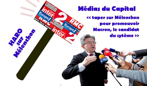 Lettre à mes consoeurs et confrères journalistes… … qui n'ont de cesse d'enjoliver Macron et de noircir Mélenchon-par Jacques COTTA (IC.fr-9/06/2017).