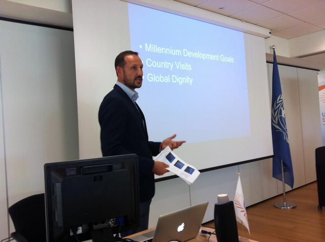 Haakon à l'ONU
