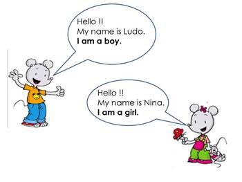 Apprendre à se présenter en anglais avec Ludo