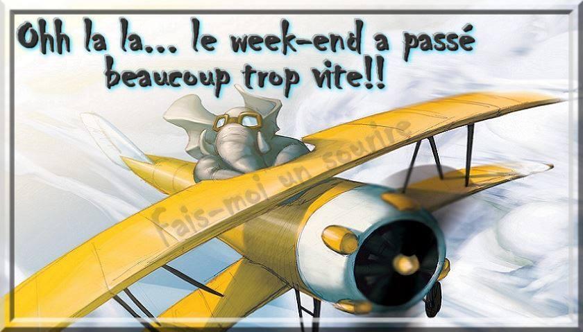 Ohh la la... le week-end à passe beaucoup trop vite!!