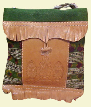 sac cuir et laine