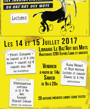 Poésie & Boucherie le week-end du 14 juillet