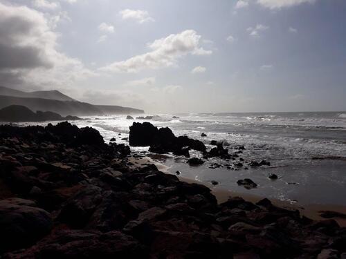 L'océan à contre jour.