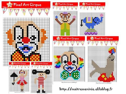 Pixel Art cirque