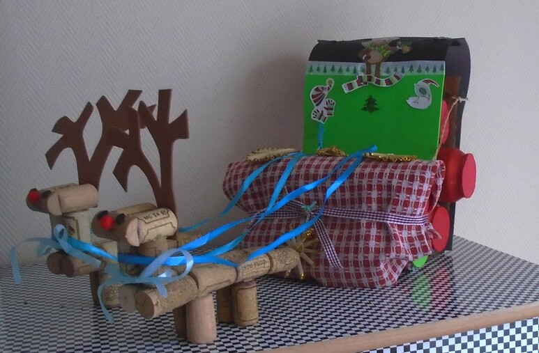 Fabrication du traîneau du Père Noël