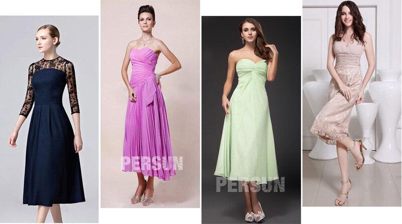 robes de soirée mi longues pas cher
