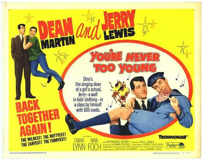 YOU'RE NEVER TOO YOUNG REISSUE BOX OFFICE USA 1964