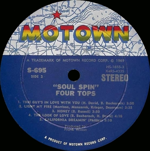 "The Four Tops : Album "" Soul Spin "" Motown Records MS 695 [ US ]"