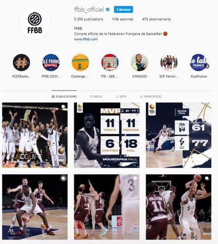 Le Basket sur Instagram