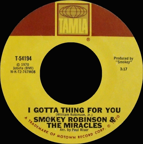 "Smokey Robinson & The Miracles : Album "" A Pocket Full Of Miracles "" Tamla Records TS 306 [ US ]"