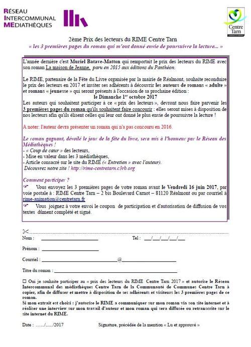 CONCOURS DE LECTEURS