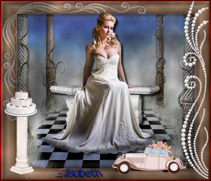 "Défi n° 89 ""Belle mariée en blanc"""