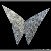 Origami zendoodle : le papillon simple
