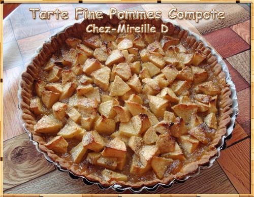 Tarte Fine Pommes Compote