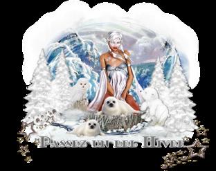 En-tête animaux des neiges