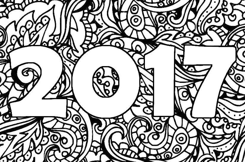 Kleurplaten Nieuwjaar En Kerstmis.Kleurplaat Kerst En Nieuwjaar 2017 Kleurplaten Voor Kinderen