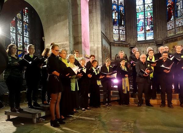 Le Choeur de Haute Côte d'Or s'est produit à l'église Saint-Nicolas de Châtillon sur Seine...