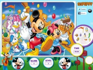 Hidden objects - Mickey Mouse