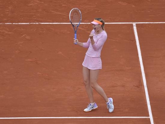 Sharapova se bat jusqu'au bout