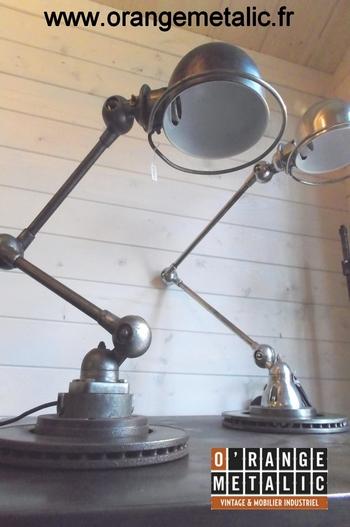 Lampe Atelier Jieldé mobilier industriel O'Range Metalic
