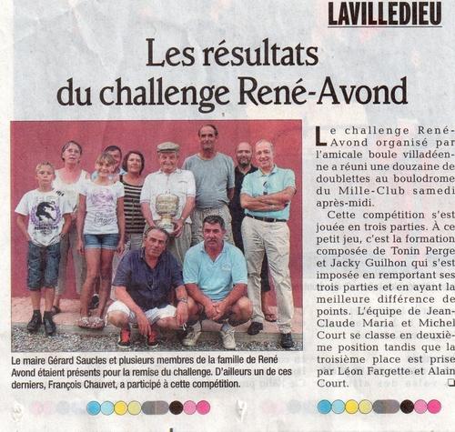CHALLENGE RENE AVON 20 AOUT 2011