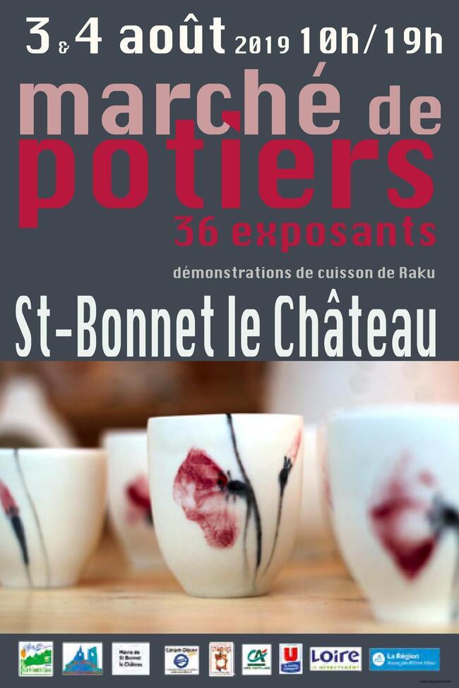 Marché de potiers St Bonnet le Château