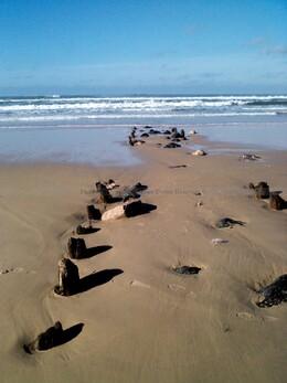 La plage hier à 14 h