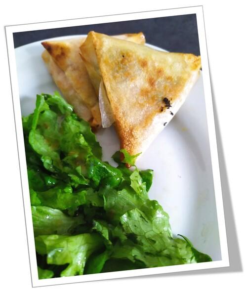 Samoussas patates douces/épinards/fromage frais