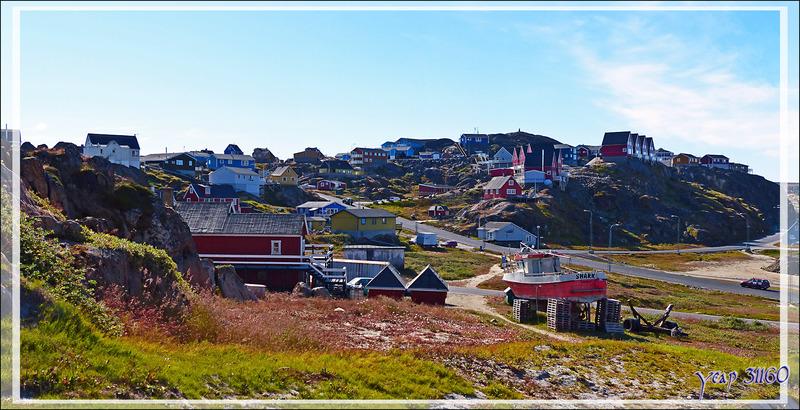 Panorama sur les hauteurs de Sisimiut - Groenland