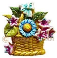 Panier d'azalées: combinaison de divers éléments du moule avec des fleurs d'azalées modelées à la main - Arts et sculpture: sculpteur mouleur