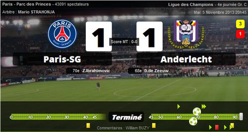 05/11/2013 Paris SG 1-1 Anderlecht